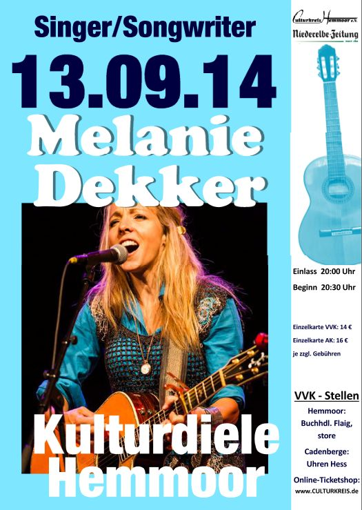 Melanie Dekker - Kulturdiele Hemmoor - Culturkreis Hemmoor e. V.